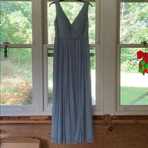 Dusty blue bridesmaid dress from Azazie
